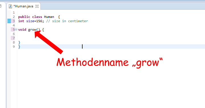 Java Methodenname