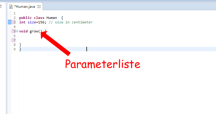 Java Parameterliste