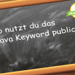 Java Keyword public