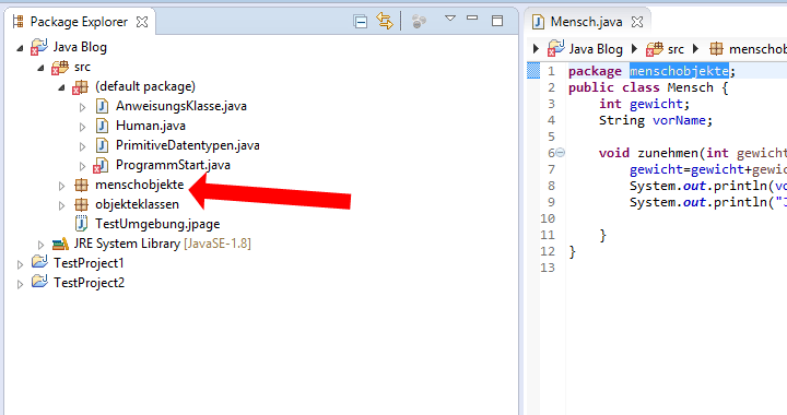 Java Klasse package