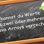 Java Arrays verrechnen