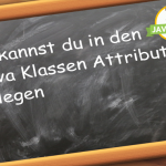 Java Klassen Attribute