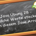 Java Übung Java Arrays