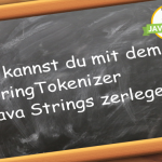 Java StringTokenizer Java Strings teilen zerlegen splitten